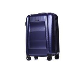 Średnia walizka PUCCINI PC017 B granatowa