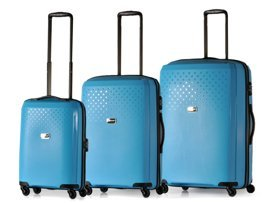 Zestaw trzech walizek PUCCINI PP010 ABC błękitny