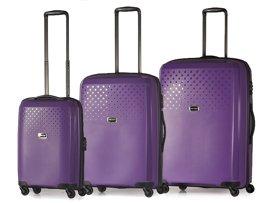 Zestaw trzech walizek PUCCINI PP010 ABC fioletowy